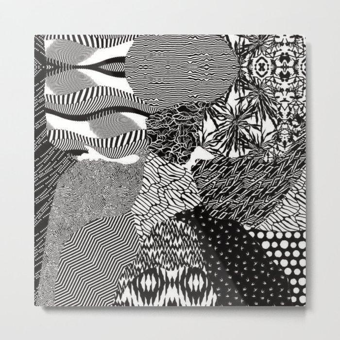 Twenty One Pilots - Blurryface Pattern Metal Print