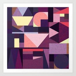 Kaku Purples Art Print