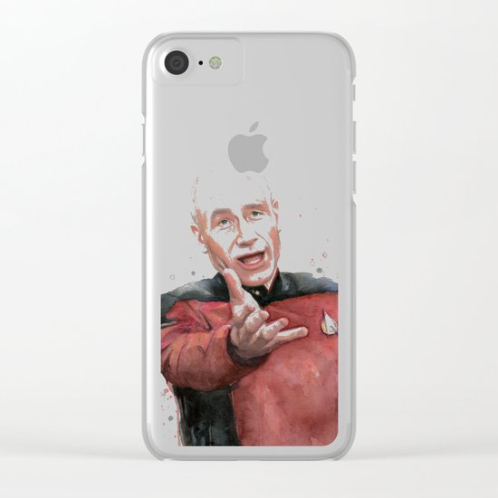 Annoyed Picard Meme Clear iPhone Case