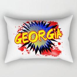 Georgia Comic Exclamation Rectangular Pillow