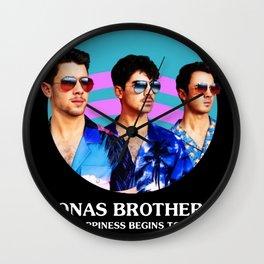 jonas brothers tour 2020 dede1 Wall Clock