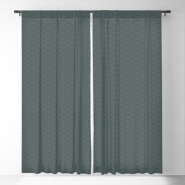 PPG Night Watch Pewter Green Multi Striped Tiny Scallop Wave Pattern Blackout Curtain