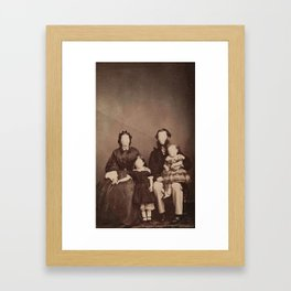 poker face family Framed Art Print