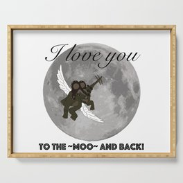 To The Moo And Back Serving Tray