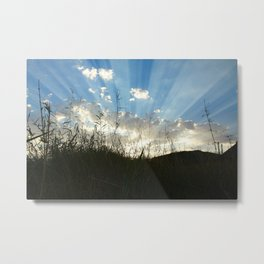 Sun Streaks Metal Print