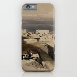 Vintage Print - The Holy Land, Vol 3 (1843) - Christian and Muslim chapels on Mount Sinai iPhone Case