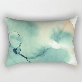 Abstract watercolor green 01 Rectangular Pillow