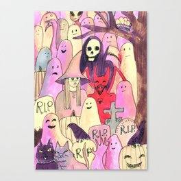 horror party funny pattern Canvas Print
