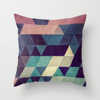 spires Throw Pillows featuring cryyp by Spires