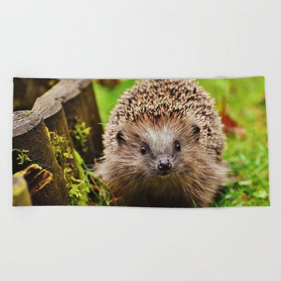 Cute Little Hedgehog Beach Towel