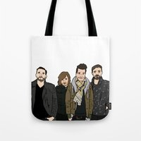 bastille Tote Bags featuring Bastille by wellsi