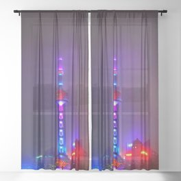 Shanghai 九 Sheer Curtain