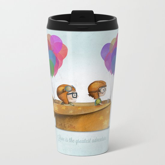 UP Pixar — Love is the greatest adventure  Metal Travel Mug