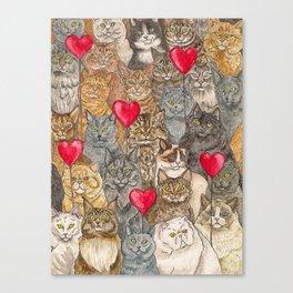 Love, Cats. Canvas Print