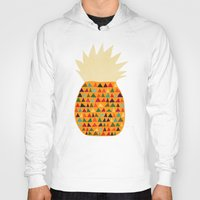 pineapple Hoodies featuring Pineapple by Picomodi