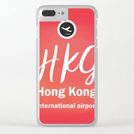 HKG Hong Kong airport Clear iPhone Case