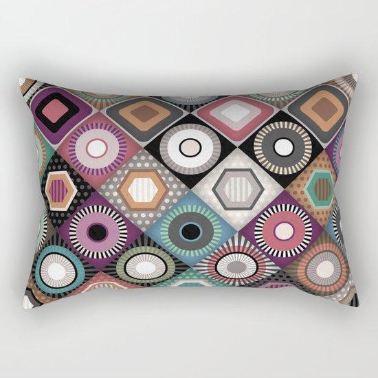 festival dusk diamond Rectangular Pillow