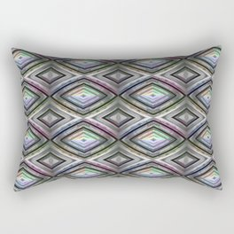 Bright symmetrical rhombus pattern Rectangular Pillow