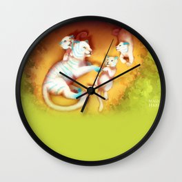 With Mom Wall Clock
