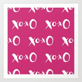 Kisses XOXO Violet Red Art Print