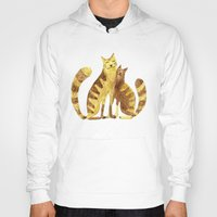 cats Hoodies featuring Cats by Anna Shell