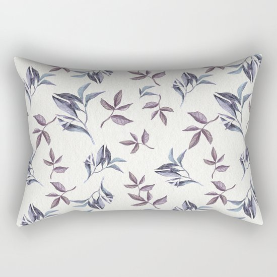 Watercolor cold leaves pattern Rectangular Pillow