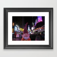 Times Square Gnome Framed Art Print