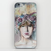 headdress iPhone & iPod Skins featuring Headdress  by Talitha Etters