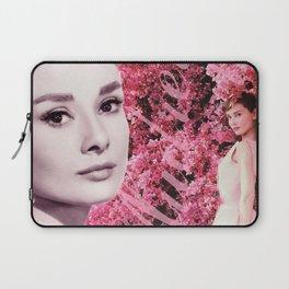 Audrey Hepburn Pink Collage Laptop Sleeve