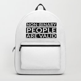 Non-binary people are valid Backpack