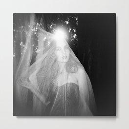 Sister Thyme - Black and White Fashion Portrait by Myles Katherine Metal Print