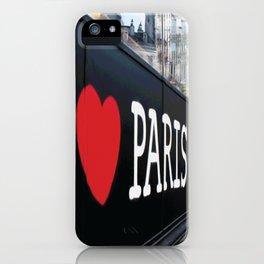 I LOVE PARIS Pop Art iPhone Case