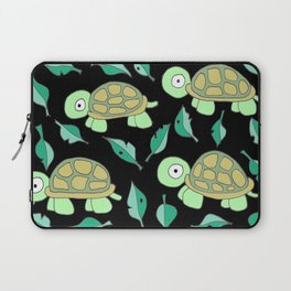 I am a Turtle / black Laptop Sleeve