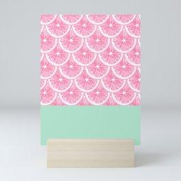 Zesty splice - pink grapefruit Mini Art Print