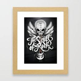 The Skull of Rock! Framed Art Print