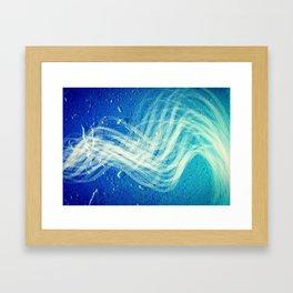 Linear Flow2-Blue Gradation Framed Art Print