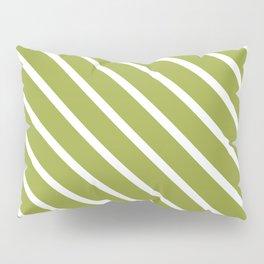 Olive Diagonal Stripes Pillow Sham