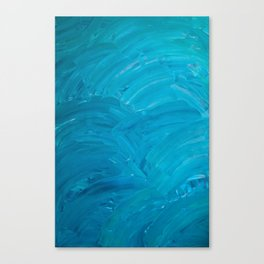 Blue Swipes Canvas Print