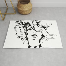 The lady with the hat Rug