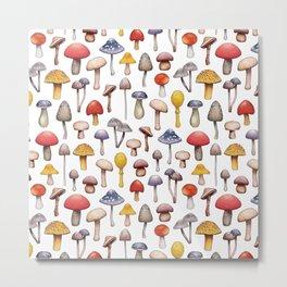 Cute Mushroom Pattern Metal Print