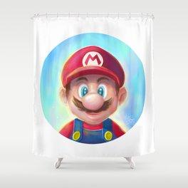 Mario Portrait Shower Curtain