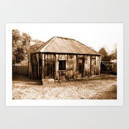 Stinson Cottage Sepia Art Print