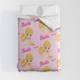 Fashion XOXO Vintage Barbie Pattern (pink) Comforters