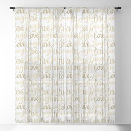 Live Laugh Love II Sheer Curtain