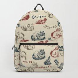 Vintage Cat Pattern Backpack
