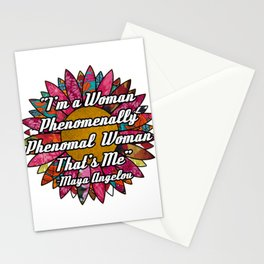 Phenomenally Woman Flower Stationery Cards