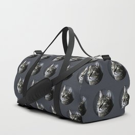 Cat looking out Duffle Bag