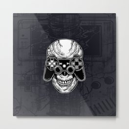 Skull Gamers Metal Print