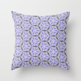 Purple Peacock Pattern Throw Pillow