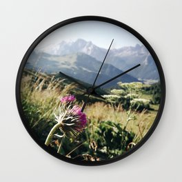 alpine view Wall Clock